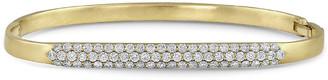 Dominique Cohen 18k Gold Classic Diamond Hinged Huggie Bangle Bracelet
