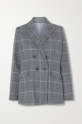 Yoox Net A Porter For The Prince's Foundation YOOX NET-A-PORTER For The Prince's Foundation - Double-breasted Prince Of Wales Checked Cashmere Blazer - Dark gray