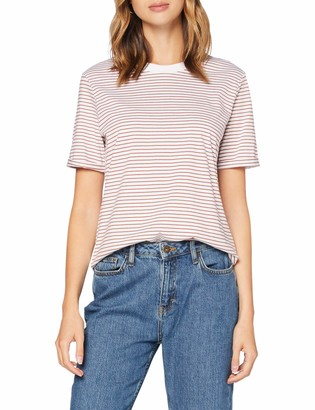 Pieces Women's Pcria Ss Fold Up Tee Noos Bc T-Shirt