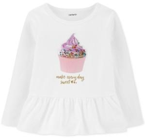 Carter's Toddler Girls Cotton Cupcake Peplum Top