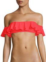 Milly Sirolo Ruffle Bandeau Bikini Top