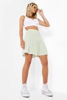 Thumbnail for your product : boohoo Gingham Mini Skater Skirt