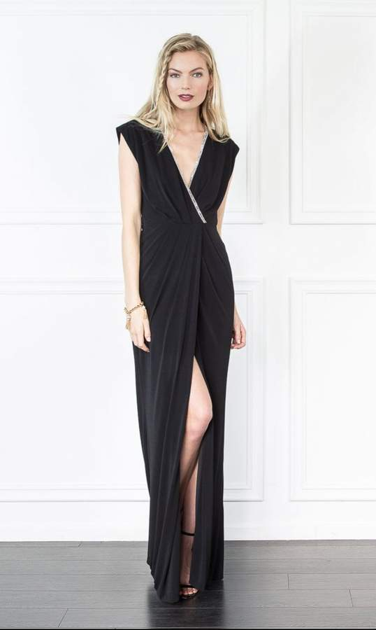 Rachel Zoe Swann V Neck Gown