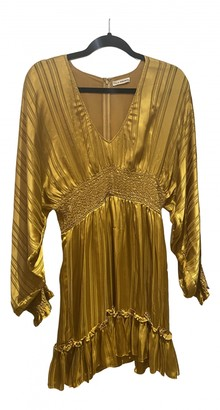 Ulla Johnson Gold Silk Dresses