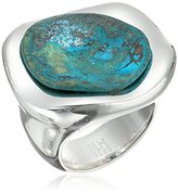 "Robert Lee Morris Femme Petal"" Patina Stone Sculptural Ring, Size 8.5"
