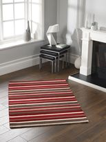 House of Fraser Origin Rugs Carved Stirpes Wool Rug Red 80x150