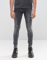 Cheap Monday Mid Spray Jeans Gravel Acid Wash