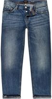 River Island Mid Blue Wash Dean Straight Jeans