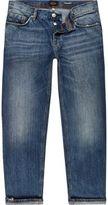 River Island MensMid blue wash Dean straight jeans