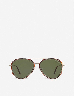 Tom Ford FT0749 60 pilot-framed metal and acetate sunglasses