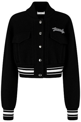 Givenchy Logo Wool Bomber Jacket