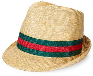 Gucci Trilby Web Straw Hat