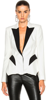 Thierry Mugler Technical Cady Blazer in Black,White.