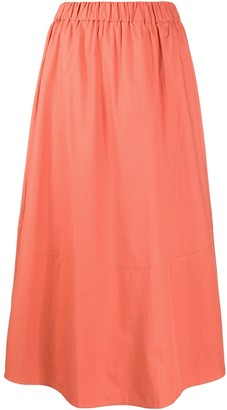 BA&SH Piel A-line cotton skirt