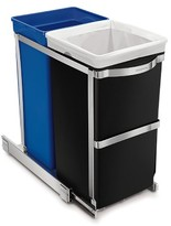 Williams-Sonoma Williams Sonoma simplehumanTM; 35-L. Dual Compartment Under Countert Pull-Out Can
