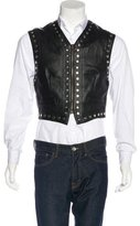 Dolce & Gabbana Embellished Faux Leather Vest