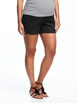 "Old Navy Maternity Relaxed Full-Panel Twill Shorts (5"")"