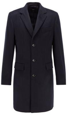 HUGO BOSS Slim Fit Blazer Coat In Pure Cashmere - Dark Blue