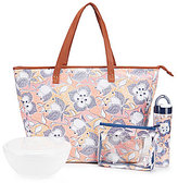 Fit & Fresh Marblehead Floral Insulated Summer Tote Kit