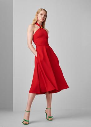 Ralph Lauren Arleen Crepe Cady Halter Dress