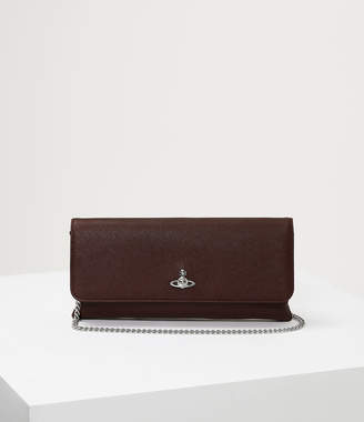 Vivienne Westwood Victoria Clutch With Flap Burgundy