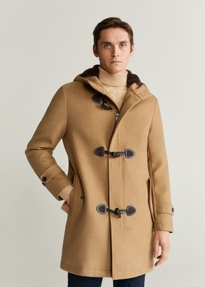 MANGO MAN - Toggle wool coat medium brown - XL - Men