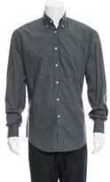 Michael Bastian Cheetah Print Button-Up Shirt