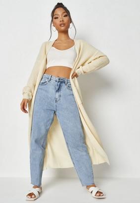 Missguided Petite Cream Maxi Knit Cardigan