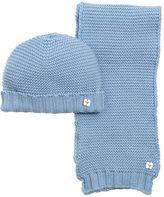 Armani Junior Cotton & Wool Blend Tricot Scarf & Hat