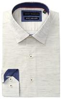 Report Collection Melange Slim Fit Dress Shirt