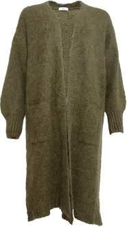 Yinca YINCA - 17517 Long Knitted Cardigan Khaki 13541003 - one size