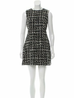 Dolce & Gabbana Boucle Mini Dress white
