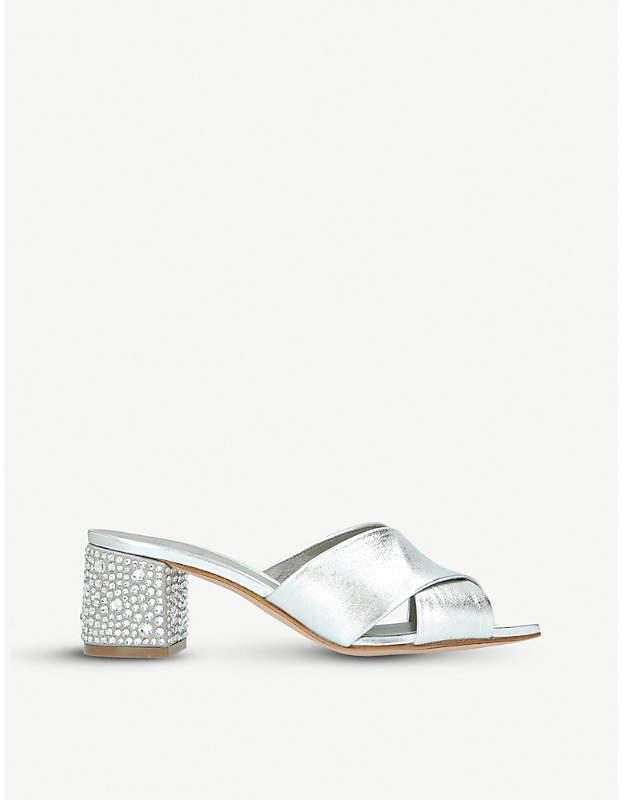 Gina Janiero jewel-embellished leather mules