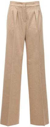 Max Mara Camel & Cashmere Wide Leg Pants