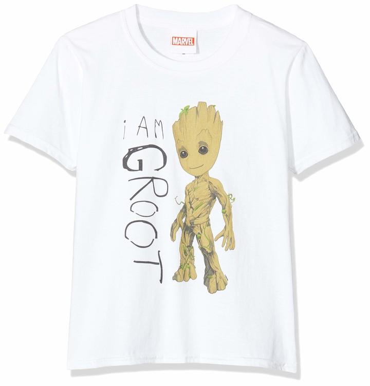 Marvel Girl's Guardians of The Galaxy Vol.2 I Am Groot Scribbles Sweatshirt