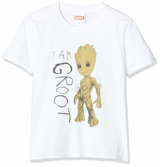 Marvel Girl's Guardians of The Galaxy Vol.2 I Am Groot Scribbles Sweatshirt