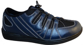 DREW Navy Daisy Leather Walking Shoe