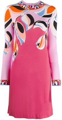 Emilio Pucci longsleeved peony print dress