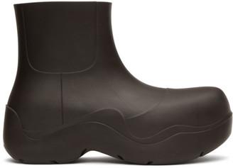 Bottega Veneta Brown Matte Puddle Boots