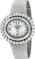 Burgi Women's BUR075SS Diamond Mesh Bracelet Watch