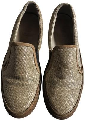 Brunello Cucinelli Gold Cloth Flats