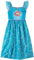 Disney Princess Ariel & Flounder Girls 4-8 Fantasy Nightgown