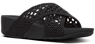FitFlop Lulu Wicker Weave Cross Slide Sandal