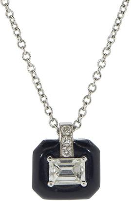 Nikos Koulis Oui Emerald Cut Diamond Pendant Necklace
