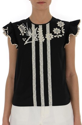 RED Valentino Embroidered Top