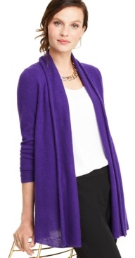 Charter Club Rolled-Edge Pure Cashmere Cardigan, Regular & Petite Sizes, Created for Macy's