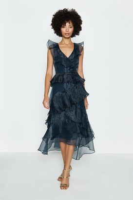 Coast Frill Tiered Organza Dress