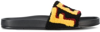 Fendi Logo Patch Slider Sandals
