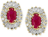 Effy Amorandeacute; by EFFYandreg; Certified Ruby (1-1/8 ct. t.w.) and Diamond (5/8 ct. t.w.) Earrings in 14k Gold, Created for Macy's