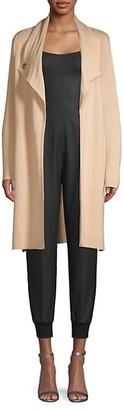 Donna Karan Grommet Open-Front Cardigan